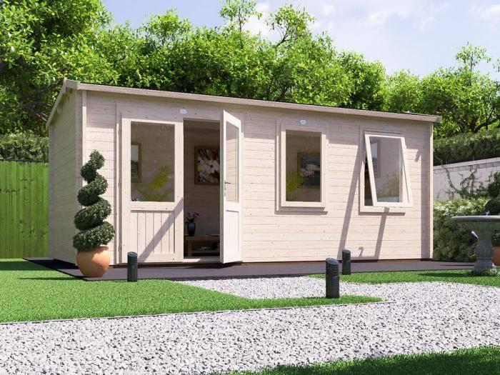 Modetro Log Cabin W5.5m x D2.5m | Log Cabins | Dunster House
