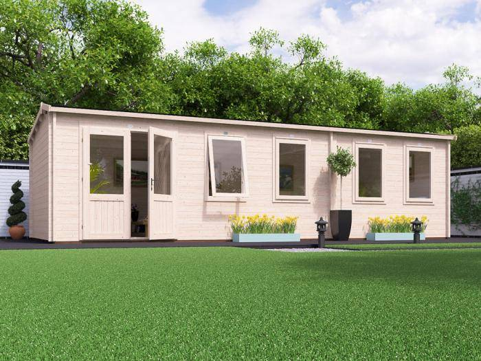 Modetro Grande Log Cabin W8.5m x D3.5m | Log Cabins