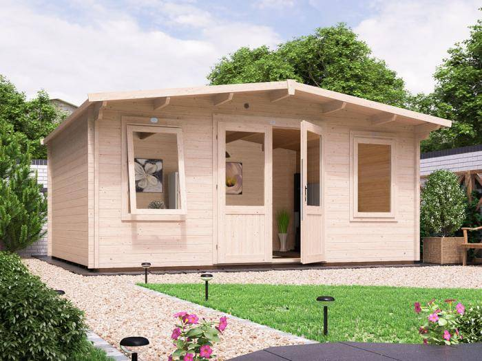 Severn Log Cabin W5.0m x D4.0m | Log Cabins | Dunster House