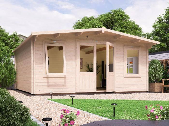 Severn Log Cabin W5.0m x D5.0m | Log Cabins | Dunster House