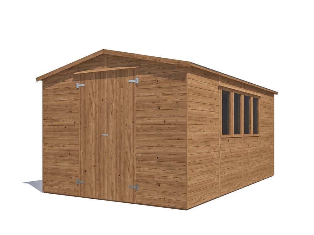 Yankee C Low Heavy Duty Shed W3.05m x D4.8m