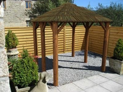 Abisa thatched gazebo x thatched gazebos - Construire une pergola ...