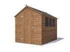 Adam II Pressure Treated Shed W1.83m x D2.44m