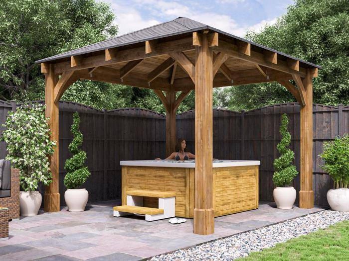 Atlas Open Gazebo W3.2m x D3.2m | Gazebos | Dunster House