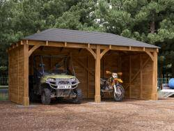Atlas Double Timber Framed Shallow Carport