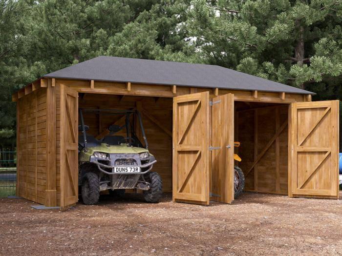 Atlas Double Shallow Garage Inc. Barn Doors   Garages