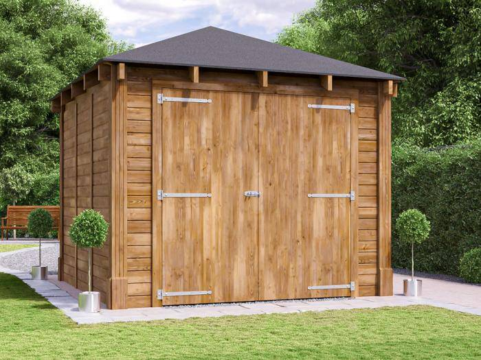 Atlas Single Shallow Garage Inc. Barn Doors | Garages
