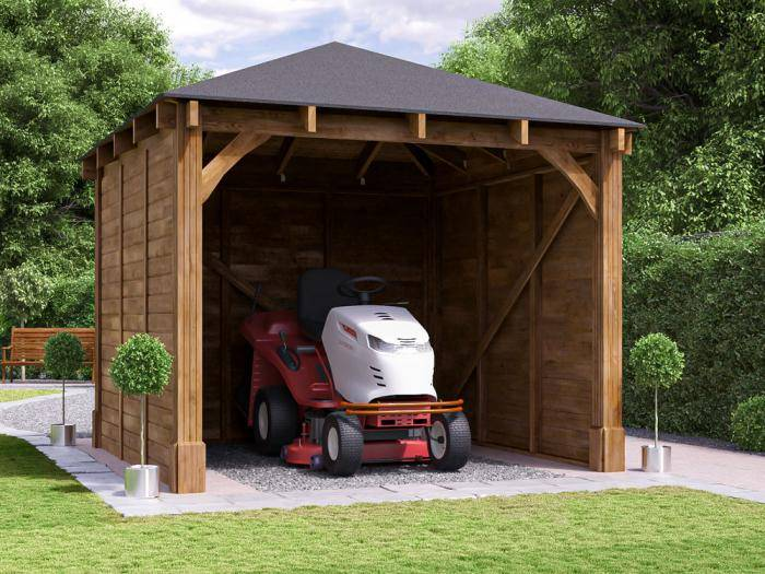 Atlas Single Shallow Carport | Garages