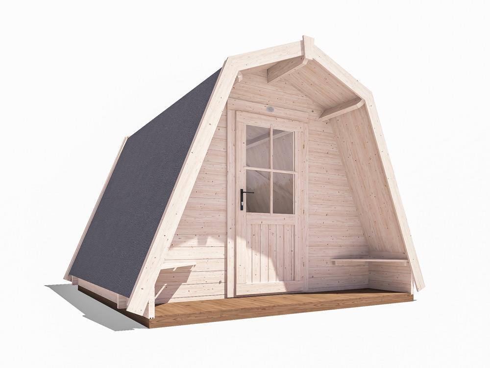 x6 Insulated Glamping Pods W3.0m x D3.0m