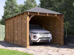 Hercules Single Timber Framed Carport