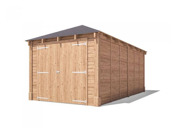 Hercules Single Wooden Garage W3.2m x D6.04m