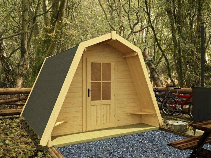 x6 Insulated Glamping Pods | Outdoor living