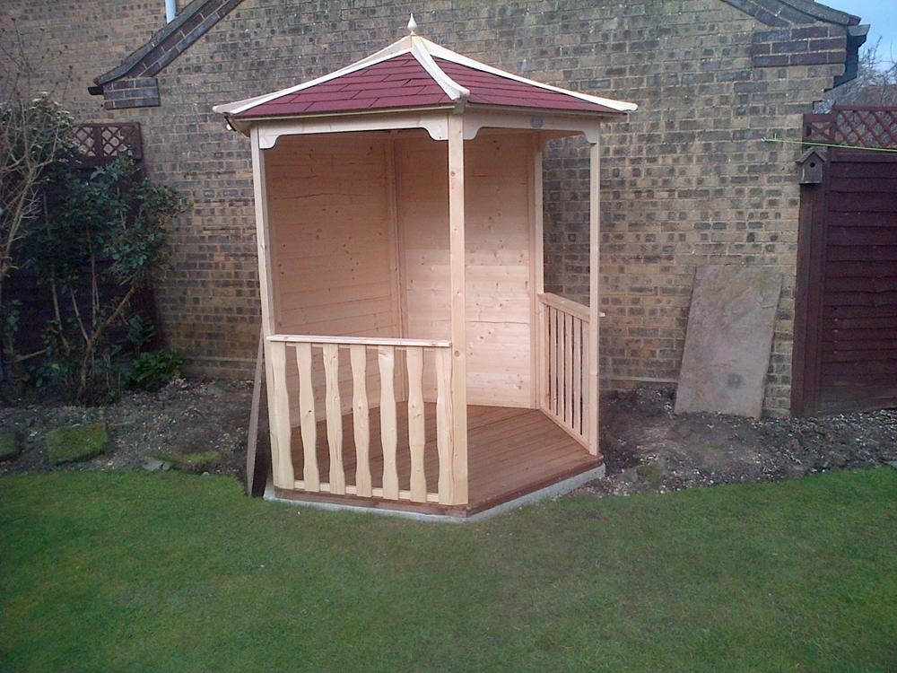 Gazebo summerhouse patio shelter gazebos kits heavy duty for Hot tub shelters
