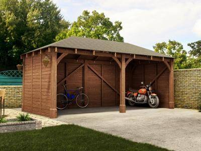 Atlas Double Shallow Carport X Garages