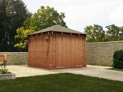 Atlas Single Shallow Garage Inc. Barn Doors | Garages