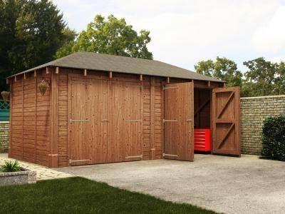 Atlas Double Shallow Garage Inc. Barn Doors | Garages