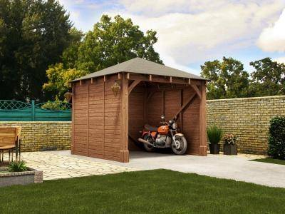 Atlas Single Shallow Carport X Garages