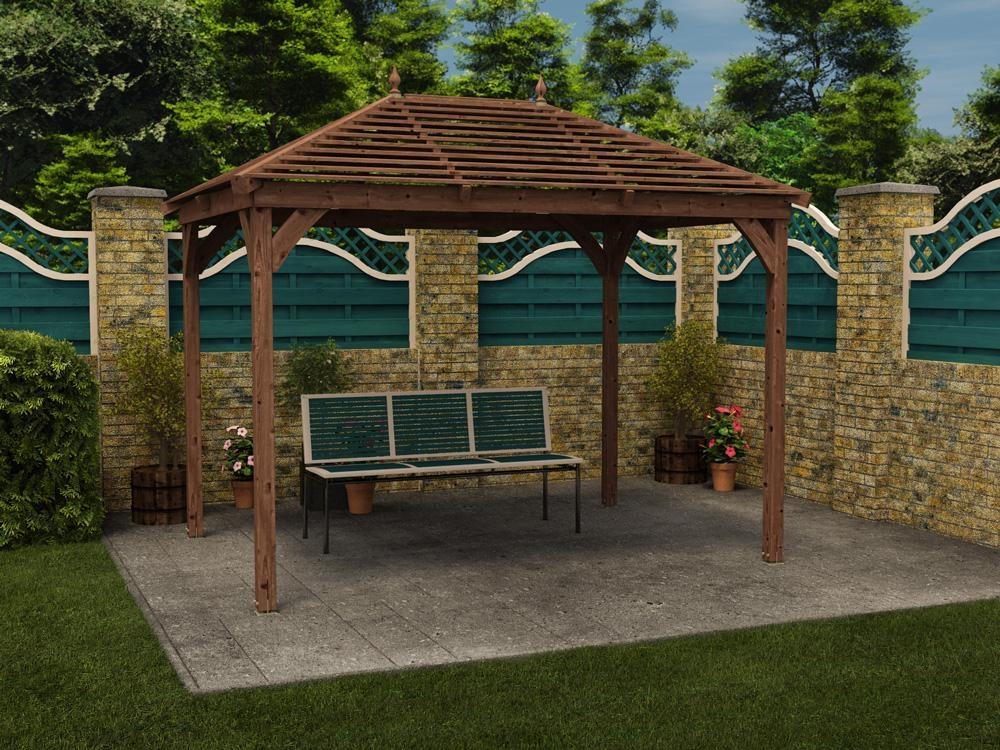 gazebo outdoor garden pavilion wooden gazebos kit hot tub. Black Bedroom Furniture Sets. Home Design Ideas