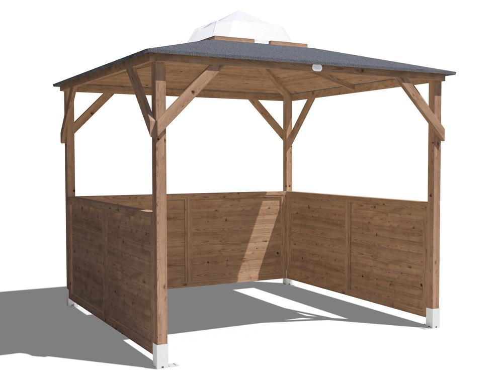 Erin Gazebo - Half Height Solid Wall Panels