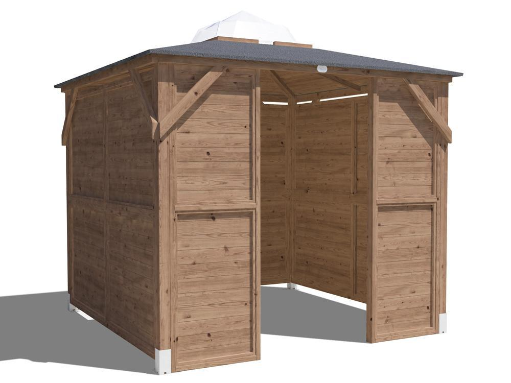 Erin Gazebo - Solid Wall Panels & Front Panel W2.5m x D2.5m