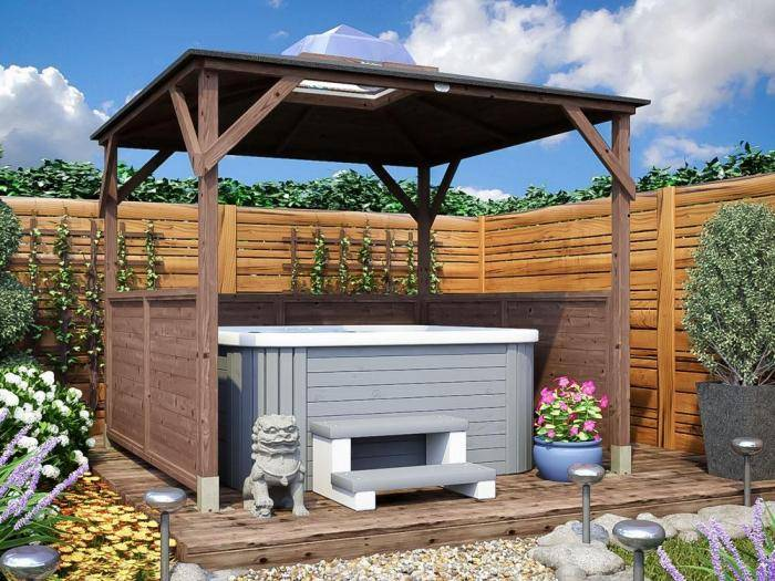 Erin Gazebo - Half Height Solid Wall Panels | Gazebos