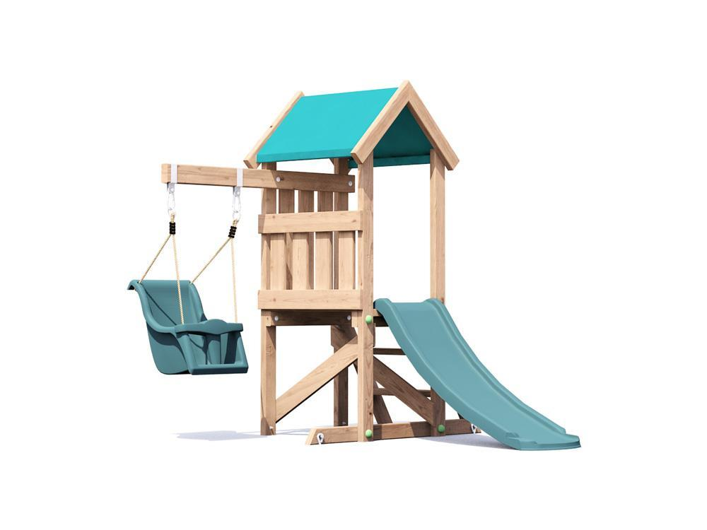 Wooden Toddlers Outdoor Climbing Frame Baby Swing Childrens Slide ...