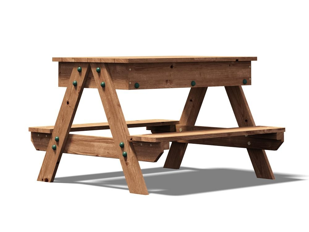 Mini Picnic Table With Sandpit Climbing Frames