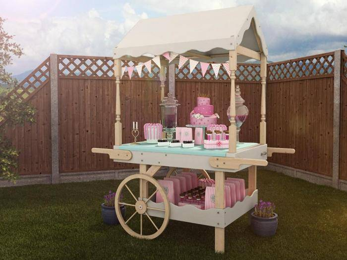 Portobello Static Candy Cart | Garden Furniture