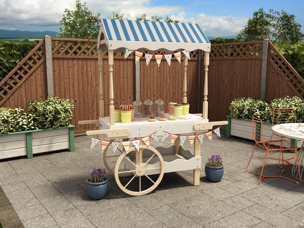 Portobello collapsible candy cart garden furniture for Sideboard jam