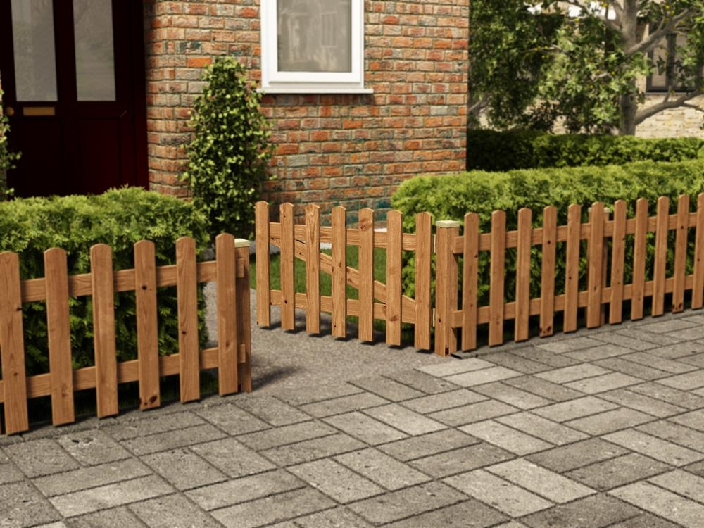 Short picket gate fence systems for Short garden fence designs