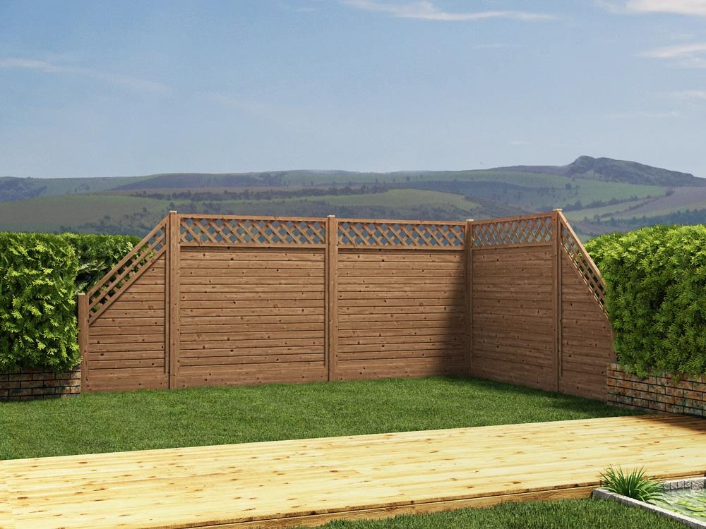 Alps Angled End Fence Panel Left Fence Systems