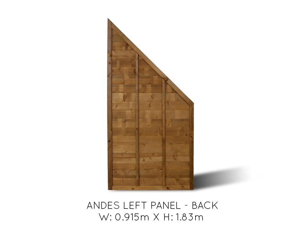 Andes Angled End Fence Panel Left Fence Systems