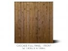 Cascade Full Fence Panel