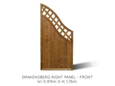 Drakensberg Angled End Fence Panel Right