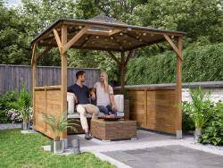Erin Gazebo with Dome - Half Height Solid Wall Panels