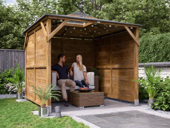 Erin Gazebo with Dome - Solid Wall Panels