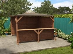 Erin Gazebo - Part Enclosed Solid Walls with Bar