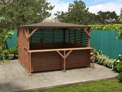 Erin Gazebo - Louvre Enclosed with Bar, Front Panel & Door