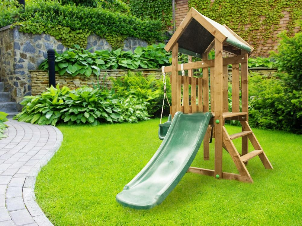 kids small climbing frame baby swing slide set playhouse childrens swings slides ebay. Black Bedroom Furniture Sets. Home Design Ideas