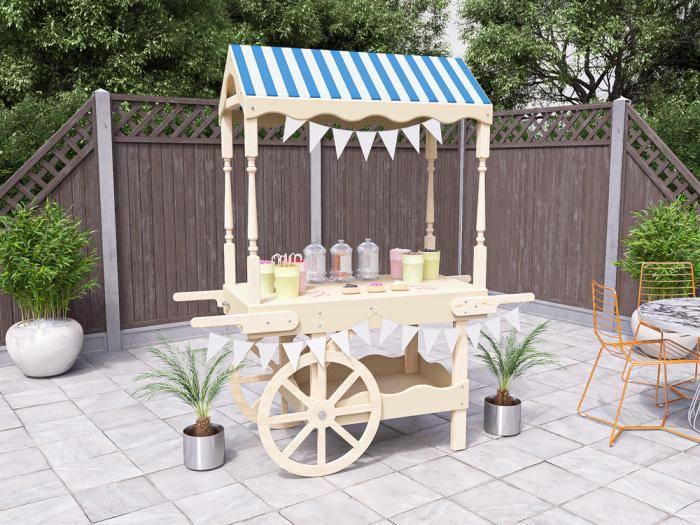 Portobello Collapsible Candy Cart | Decorative Furniture