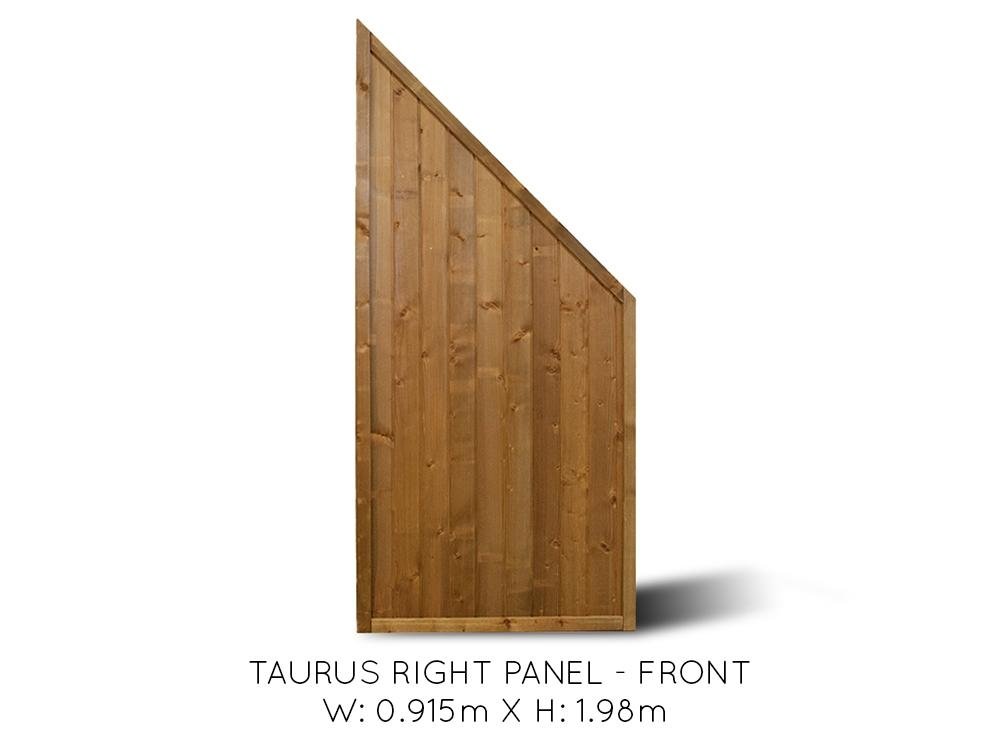 Taurus Angled End Fence Panel Right Fence Systems