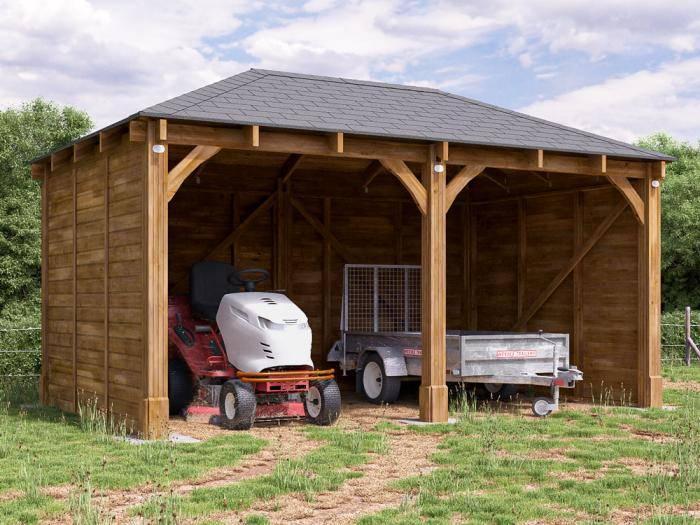 Artemis Double Carport W5.19m x D3.2m | Wooden Carports
