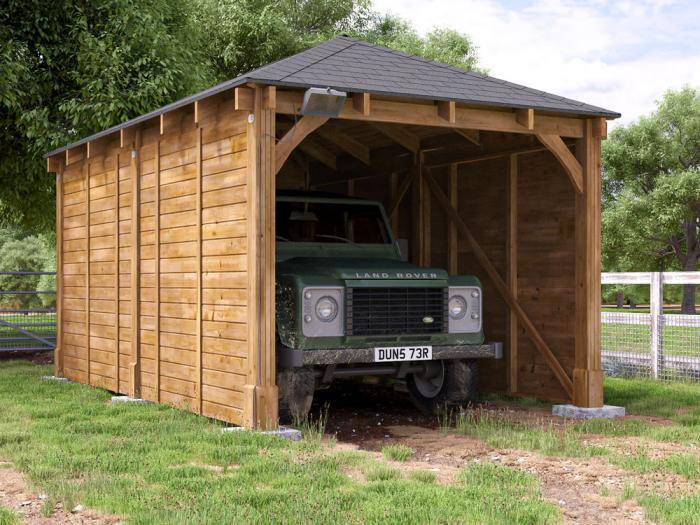 Artemis Single Timber Framed Carport