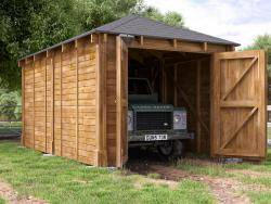Artemis Single Timber Framed Garage Inc. Barn Doors
