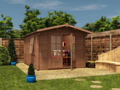 Pressure Treated Avon Log Cabin W3.0m x D4.0m