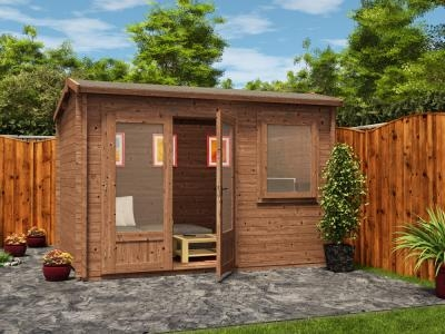 Pressure Treated Carsare Log Cabin W3.5m x D2.5m