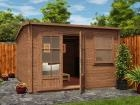 Pressure Treated Carsare Log Cabin W3.5m x D4.5m