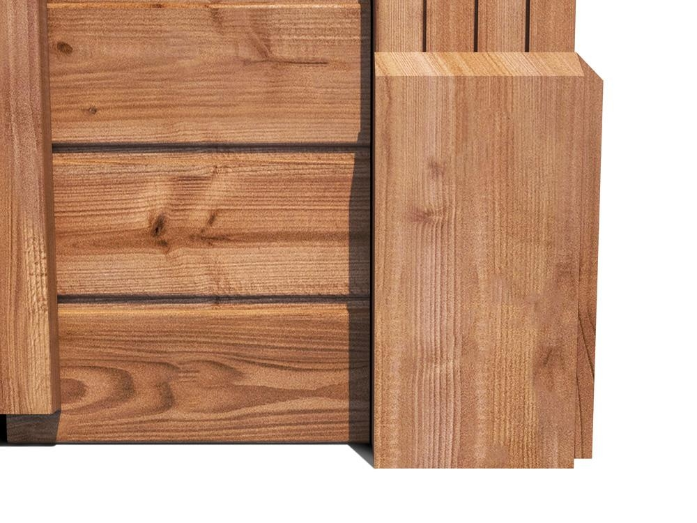 Hercules Single Wooden Garage Inc. Barn Doors