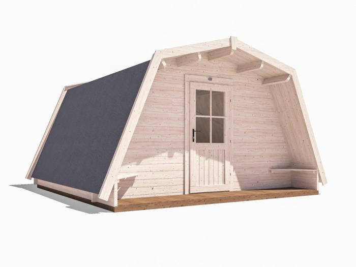 x3 Insulated Glamping Cocoons W4.0m x D4.0m
