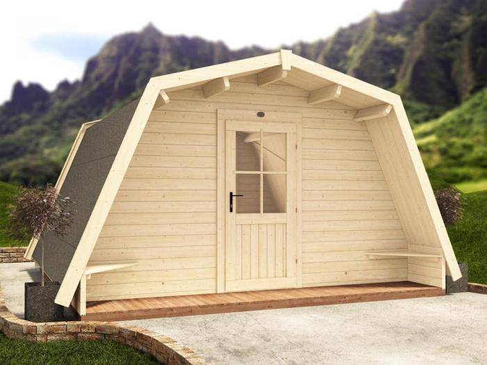 x3 Insulated Glamping Cocoons W4m x D4m | Dunster House